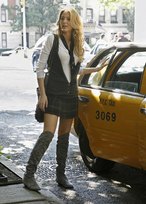 Gossip Girl Serena in Grey Boots
