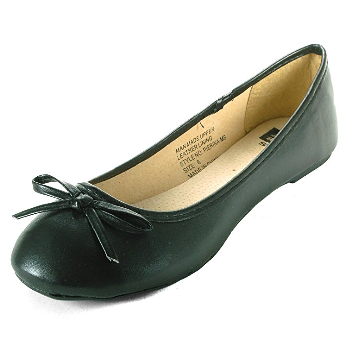Alpine Swiss Iris Women's Genuine Suede Lined Bow Ballet Flats