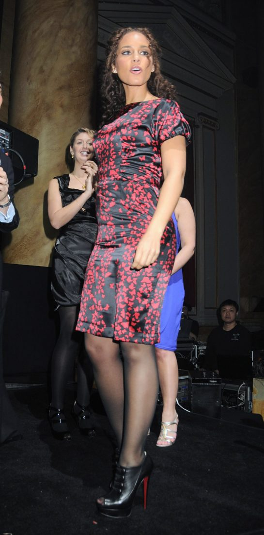Alicia Keys (Christian Louboutin wearing peeptoe booties) in attendance for Gotham Magazine's Annual Anniversary Gala, Capitale, New York, NY March 15, 2010. Photo By: Rob Rich/Everett Collection