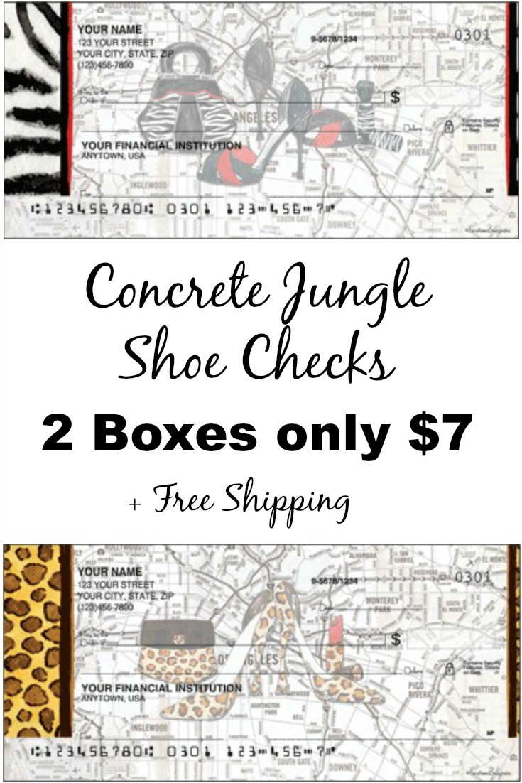 Concrete Jungle Shoe Checks - 2 Boxes only $7 + Free Shipping