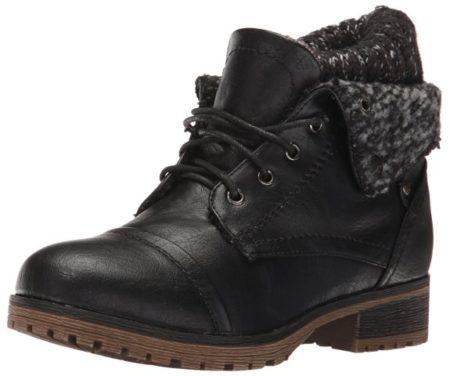 REFRESH WYNNE-01 Women's combat style lace up ankle booties