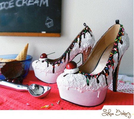 Shoe Bakery Ice Cream Pumps Photo