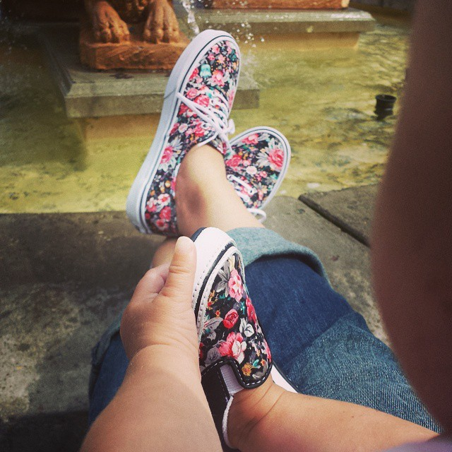 Mommy & Baby Matching Floral Vans Sneakers