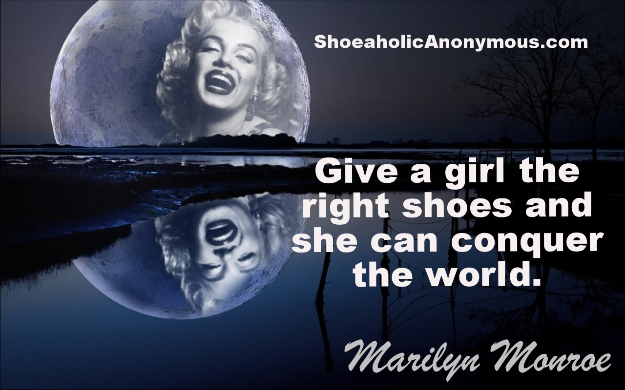 Marilyn Monroe Shoe Quote