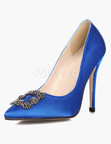 1e1d96f8f121 Knockoff Manolo Blahnik Blue Satin Pumps Replicas - Shoeaholics Anonymous  Shoe Blog