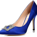 Replica Manolo Blahnik Blue Satin Pumps