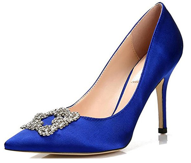Blue Sex And The City Shoes