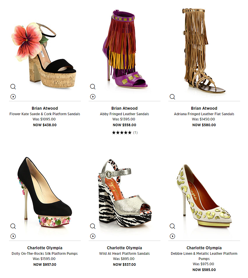 Saks Fifth Avenue Shoe Sale (Plus Coupons)