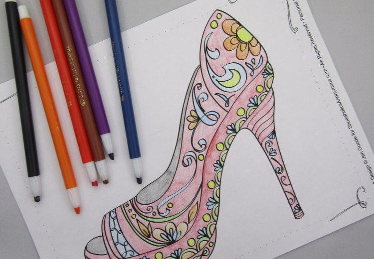 Free Printable: High Heel Shoe Coloring Page