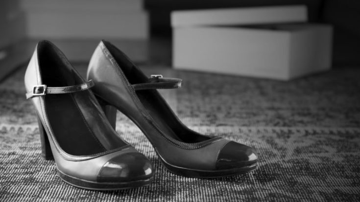 Vintage style shoes moody black white