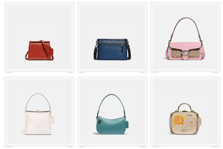 Collection of coach purses