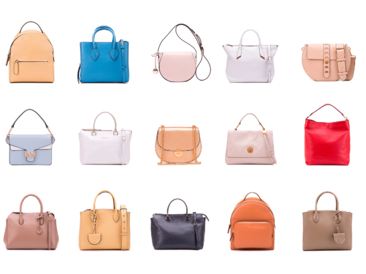 collection of purses in various colors